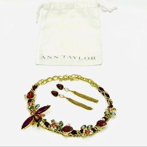 Jewelry - 2/$40🥳 Ann Taylor Crystal Dragonfly Set